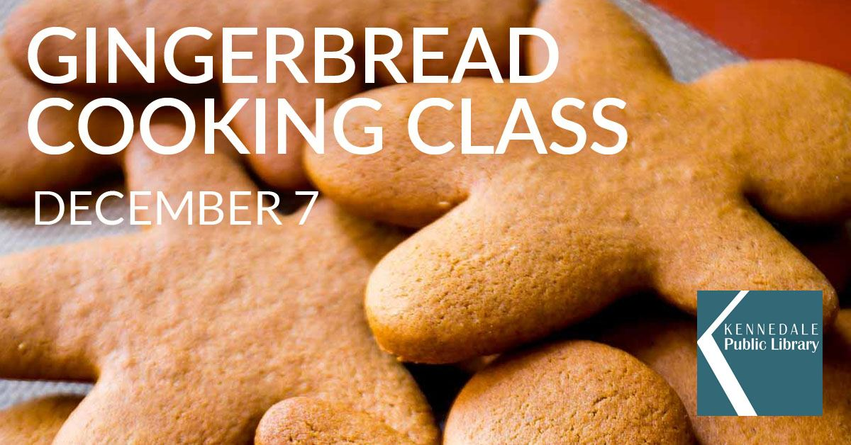 Gingerbread Cookie Workshop Saturday December 7 from 2 to 4 pm at the Kennedale Library